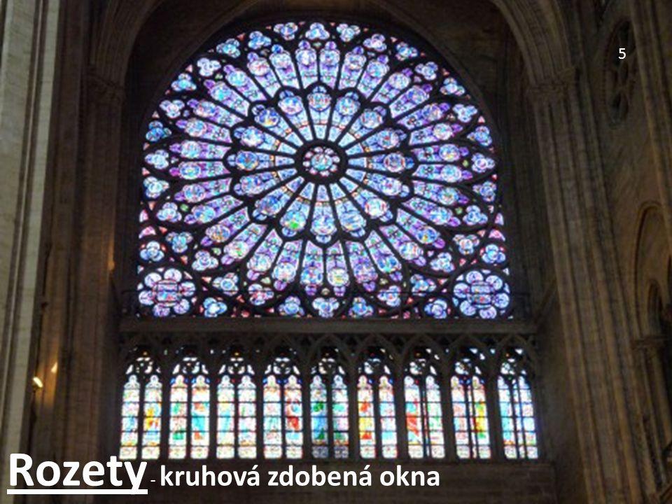 5 Rozety - kruhová zdobená okna