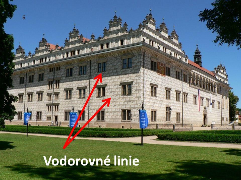 6 Vodorovné linie