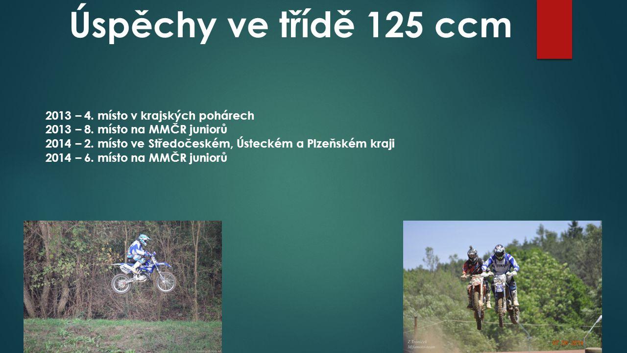 Úspěchy ve třídě 125 ccm 2013 – 4. místo v krajských pohárech 2013 – 8.