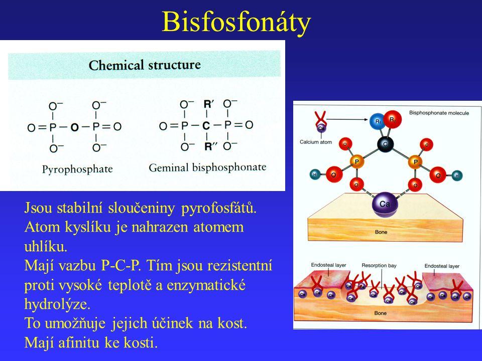 Jsou stabilní sloučeniny pyrofosfátů. Atom kyslíku je nahrazen atomem uhlíku. Mají vazbu P-C-P. Tím jsou rezistentní proti vysoké teplotě a enzymatick