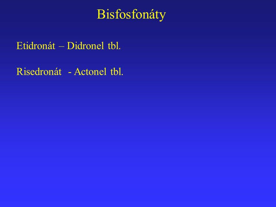 Etidronát – Didronel tbl. Risedronát - Actonel tbl. Bisfosfonáty