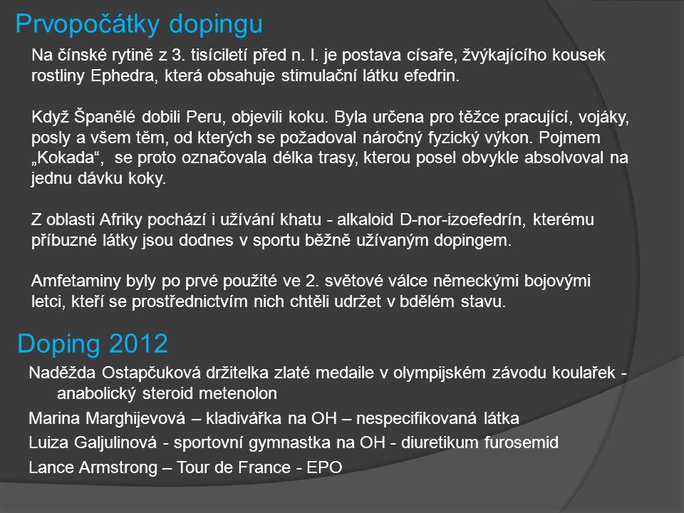 Zdroje:  Sport Nutrition Vávra.Prvopočátky dopingu [online].