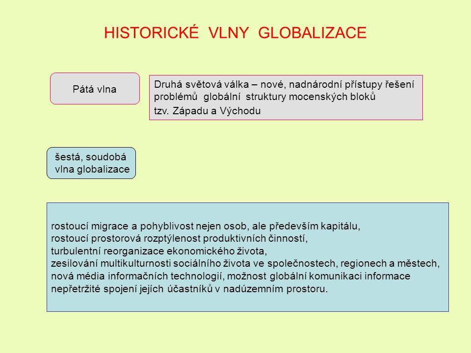 G L O B A L I Z A C E Pojem globalizace poprvé použil americký ekonom Theodore Levitt v roce 1985 k popisu vývoje světového hospodářství v období sedmdesátých let 20.