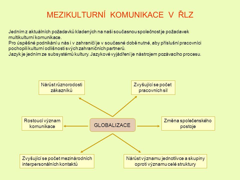 INTERKULTURÁLNÍ ŘÍZENÍ LIDSKÝCH ZDROJŮ Funkce komplexní zabezpečení mobility zaměstnanců přípravu zaměstnanců na práci v zahraničí, řízení expatriantů a jejich návratů výkon práce českých občanů v zahraničí; výkon práce cizinců v tuzemsku; respektovat právní, sociální systém, často odlišnou strukturu hodnot cizí země; vytvářet podmínky pro minimalizaci zásahů do soukromí vysílaných osob do zahraničí, tj.: respektovat rodinnou situaci, zaměstnání partnery v zahraničí, školní docházka dětí pomoc při vyhledání odpovídajícího ubytování Nutno řešit často nepředvídatelné vlivy rozvinutost trhu dostupnost služeb v místě působení; odlišnosti obsahu jednotlivých personálních procesů