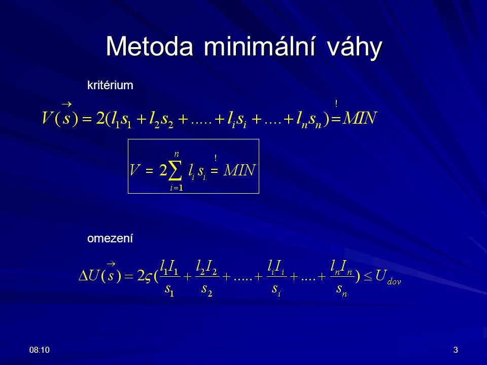 08:123 Metoda minimální váhy kritérium omezení