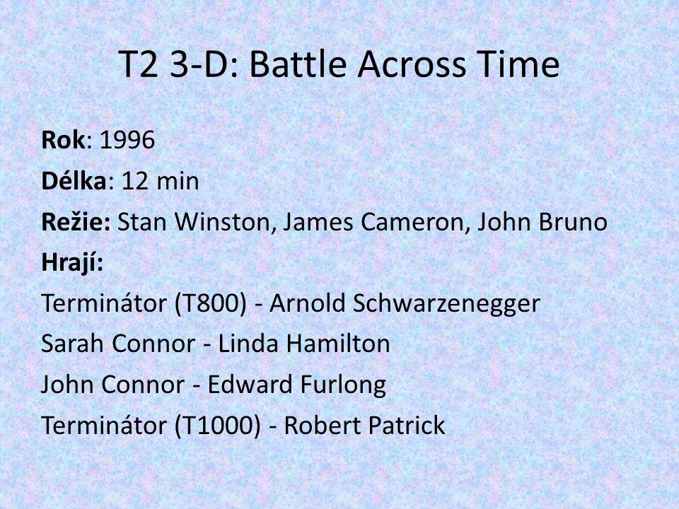 Rok: 1996 Délka: 12 min Režie: Stan Winston, James Cameron, John Bruno Hrají: Terminátor (T800) - Arnold Schwarzenegger Sarah Connor - Linda Hamilton