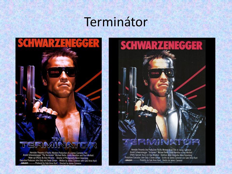 Terminator Rok: 1984 Délka: 107 min (plus 9:57 min vynechaných scén) Režie: James Cameron Hrají: Kyle Reese - Michael Biehn Sarah Connor - Linda Hamilton Terminátor (T800) - Arnold Schwarzenegger
