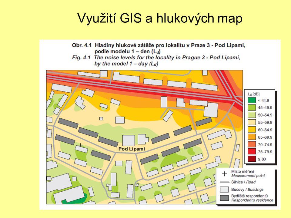 Využití GIS a hlukových map