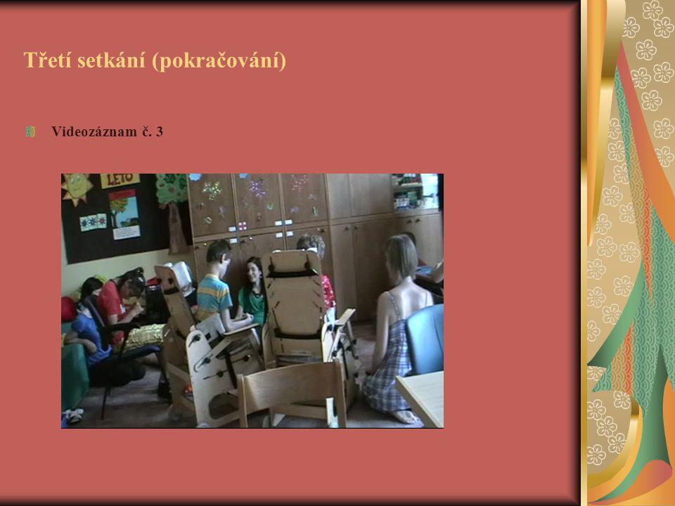 Třetí setkání (pokračování) Videozáznam č. 3