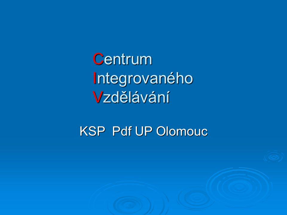 Centrum Integrovaného Vzdělávání KSP Pdf UP Olomouc