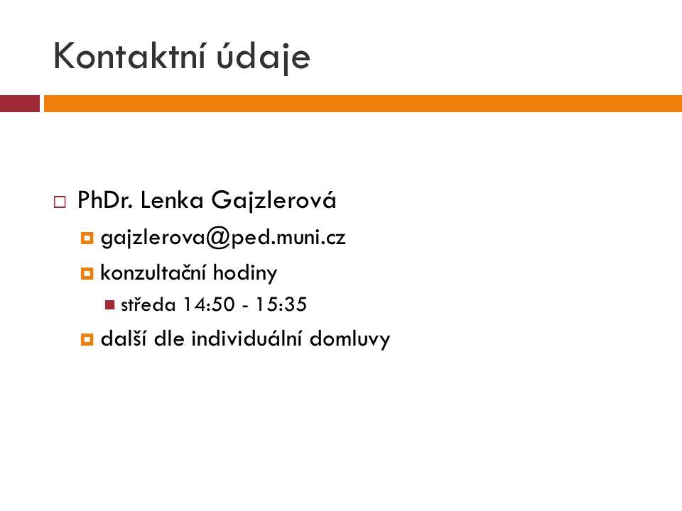 Kontaktní údaje  PhDr.