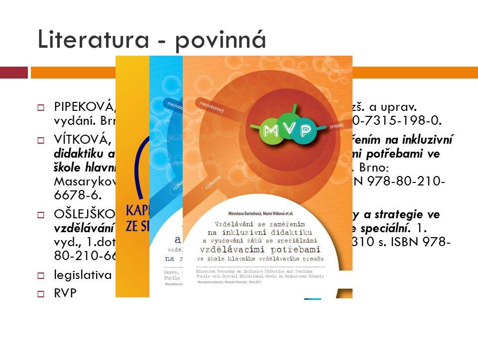  PIPEKOVÁ, J.Kapitoly ze speciální pedagogiky. 3.