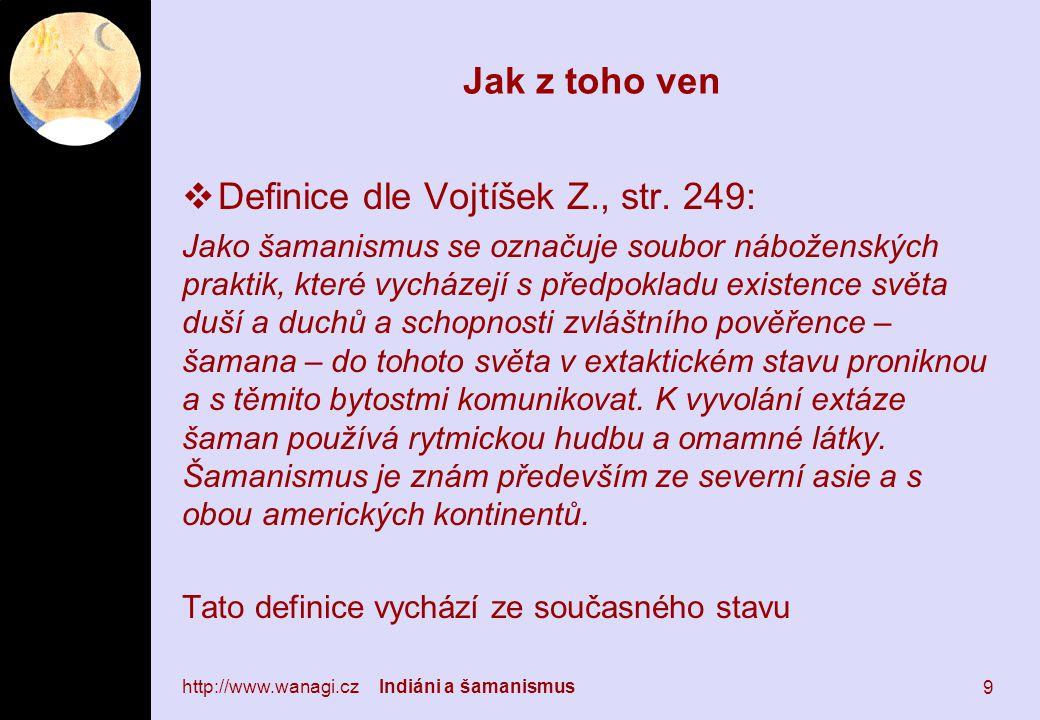 Jak z toho ven  Definice dle Vojtíšek Z., str.