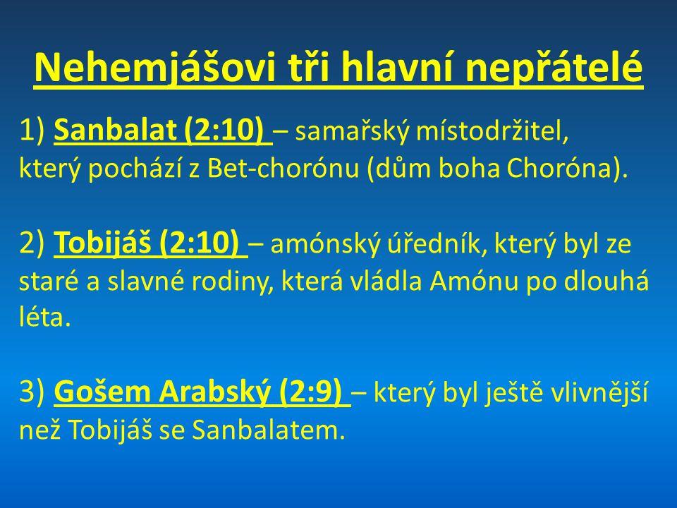 Aplikační poselství: -Bůh se prozřetelně stará o svůj lid, jestliže lid poslušně a věrně pracuje na Jeho záměrech tváří v tvář protivenství -Slyšet Boží slovo nestačí – je třeba na něj dbát v praxi
