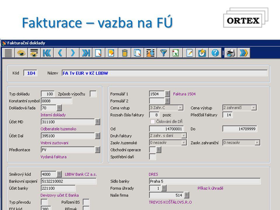 Fakturace – vazba na FÚ  Finanční účetnictví původní  Platí stejný způsob vazby  Číselník rozúčtování  Katalog saldokonta  Finanční účetnictví v Orsoft open  Nové způsoby vazeb  Číselník účetních kontací  Číselník účetních souvztažností