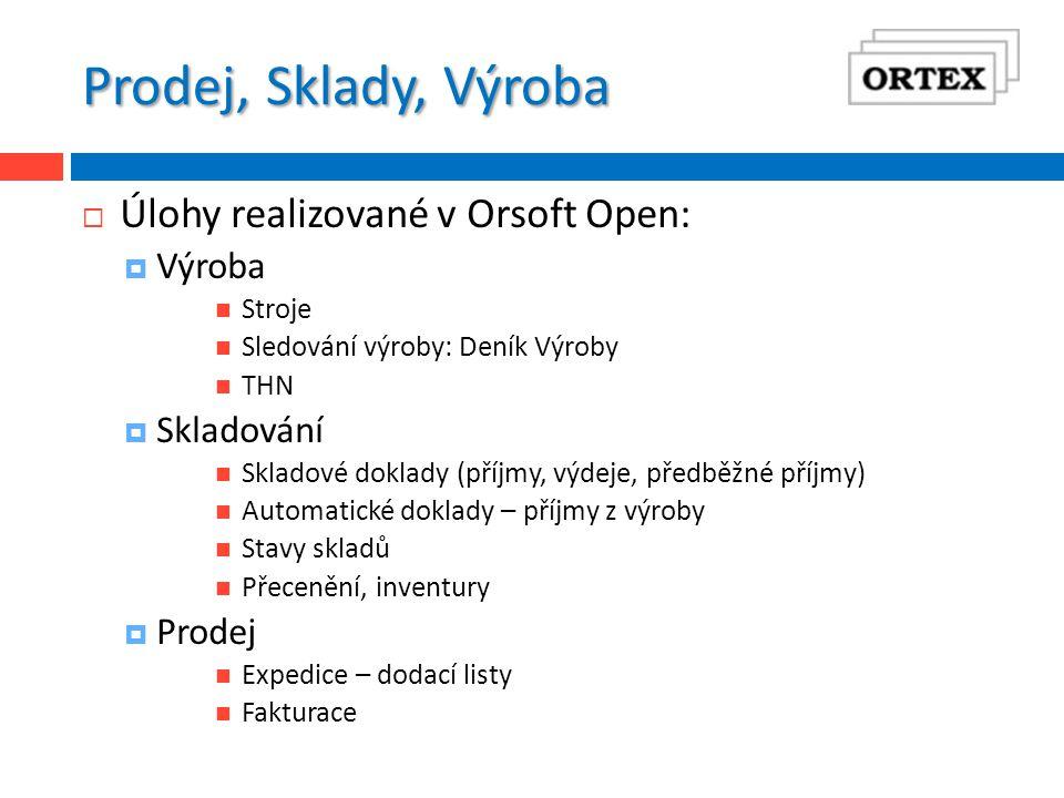 Společné menu – výhody  Společné menu  Výhodou pro uživatele je, že spouští jednoho klienta, ze kterého může spouštět i úlohy Orsoftu i úlohy Orsoft Open  Výhodou pro uživatele je více současně spuštěných oken s úlohami Orsoft Open  Výhodou pro správce je, že s nasazením Orsoft Open je zajištěna větší integrita dat