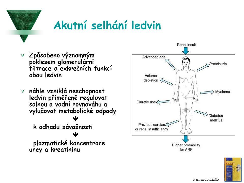 Renální azotemie  primární onemocnění ledvin  extrarenální nemoci - postižena určitá strukturní součást ledviny 1) nemoci cév 2) glomerulární nemoci 3) tubulární nemoci 4) nemoci intersticia