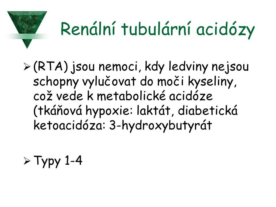 Renální tubulární acidózy  (RTA) jsou nemoci, kdy ledviny nejsou schopny vylučovat do moči kyseliny, což vede k metabolické acidóze (tkáňová hypoxie: