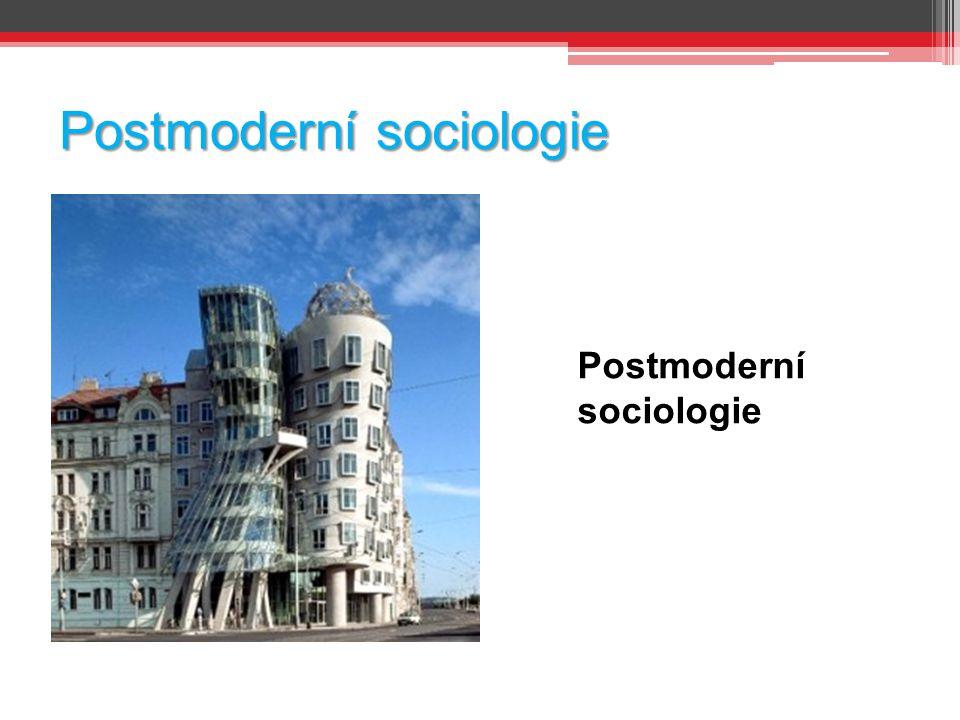 Postmoderní sociologie