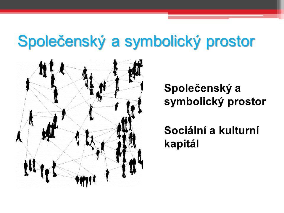 Společenský a symbolický prostor Sociální a kulturní kapitál