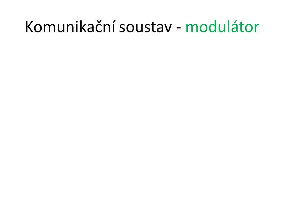 Komunikační soustav - modulátor