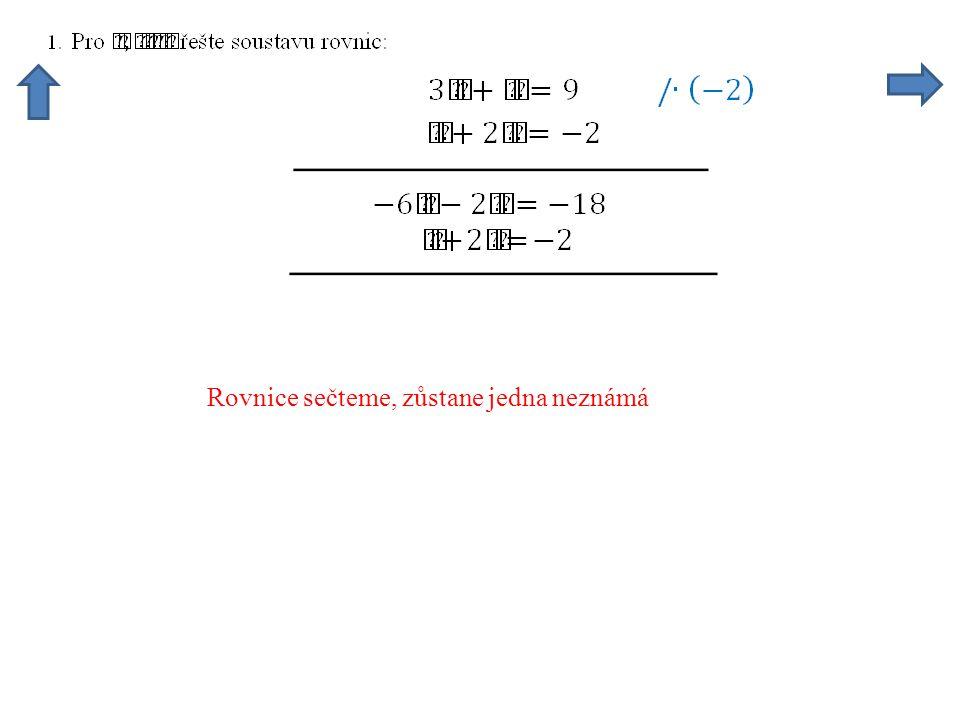 Po vypočtení dosadíme do některé z rovnic s y