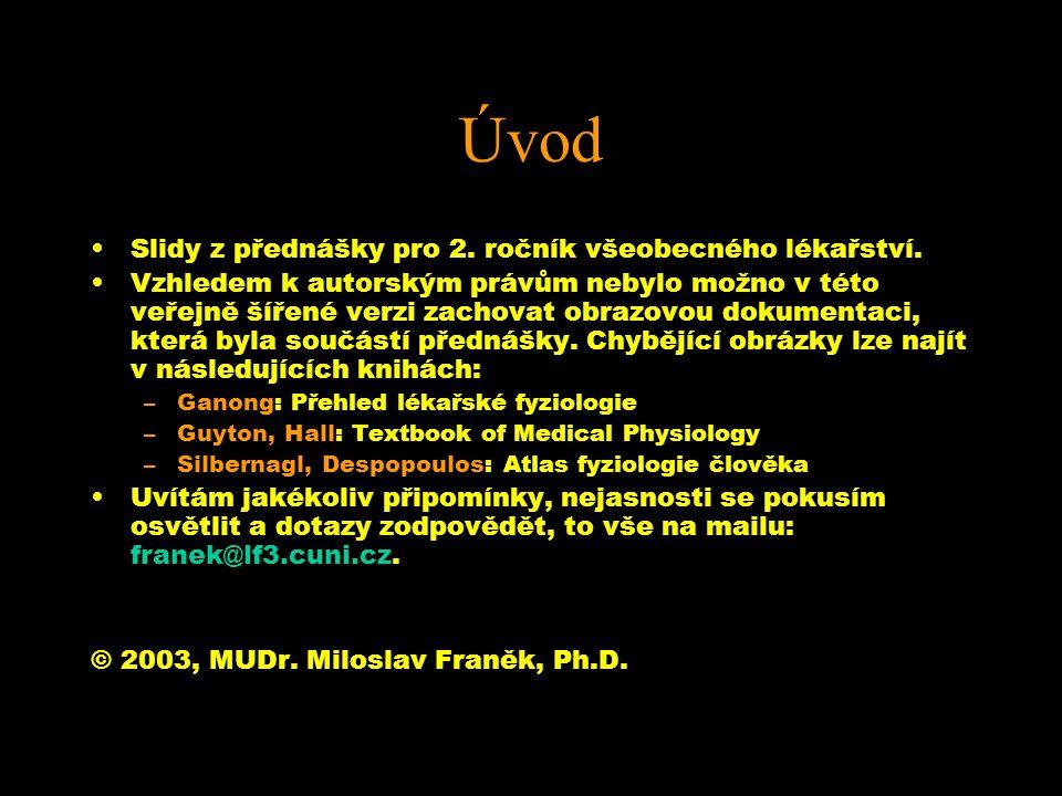 Úvod Slidy z přednášky pro 2.ročník všeobecného lékařství.