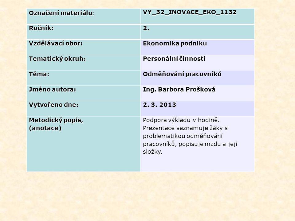 Označení materiálu : VY_32_INOVACE_EKO_1132Ročník:2.