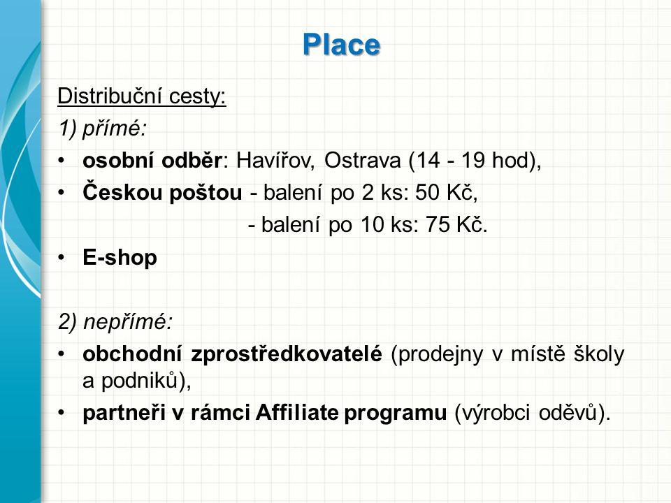 Place Distribuční cesty: 1)přímé: osobní odběr: Havířov, Ostrava (14 - 19 hod), Českou poštou - balení po 2 ks: 50 Kč, - balení po 10 ks: 75 Kč. E-sho