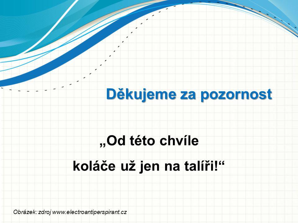 """Děkujeme za pozornost """"Od této chvíle koláče už jen na talíři!"""" Obrázek: zdroj www.electroantiperspirant.cz"""