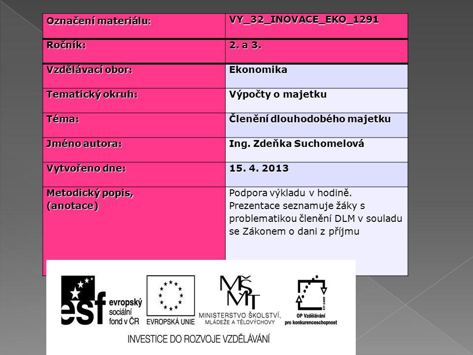 Označení materiálu : VY_32_INOVACE_EKO_1291Ročník: 2.