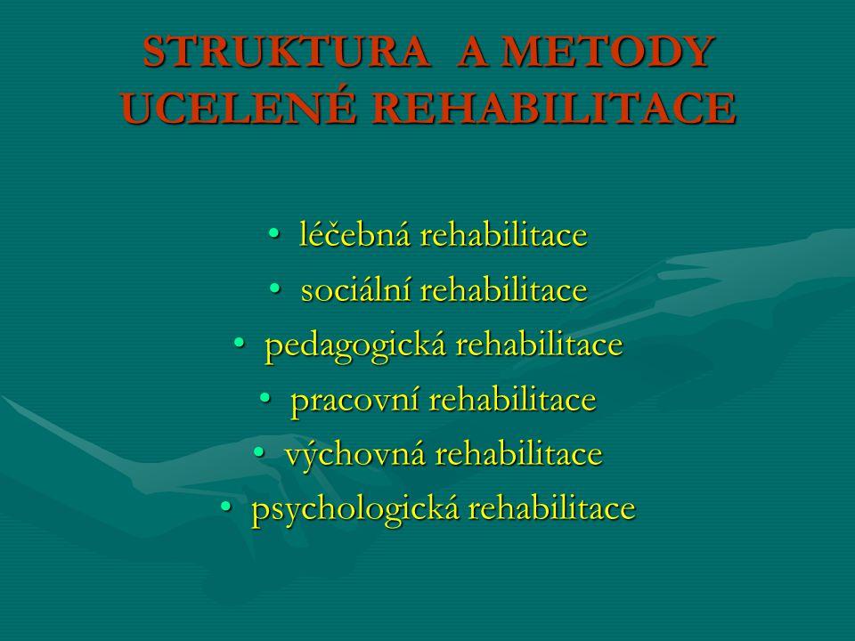TÝMOVÁ PRÁCE předpoklad kvalitní rehabilitace fyzioterapeutfyzioterapeut ergoterapeutergoterapeut psychologpsycholog sociální pracovnicesociální pracovnice případně i logopedpřípadně i logoped protetik či protetický technikprotetik či protetický technik