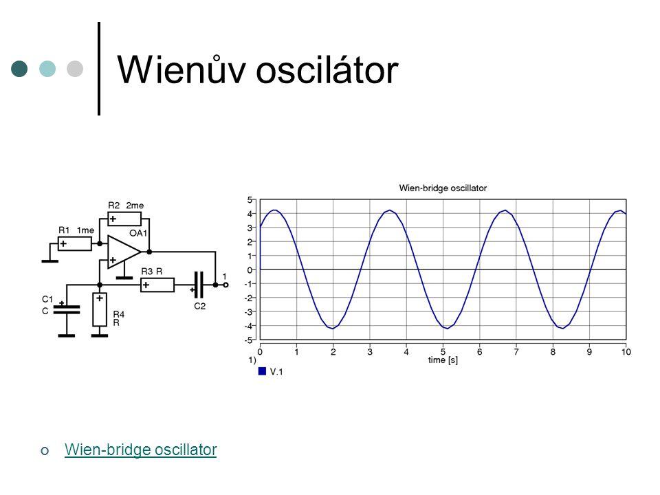 Wienův oscilátor Wien-bridge oscillator