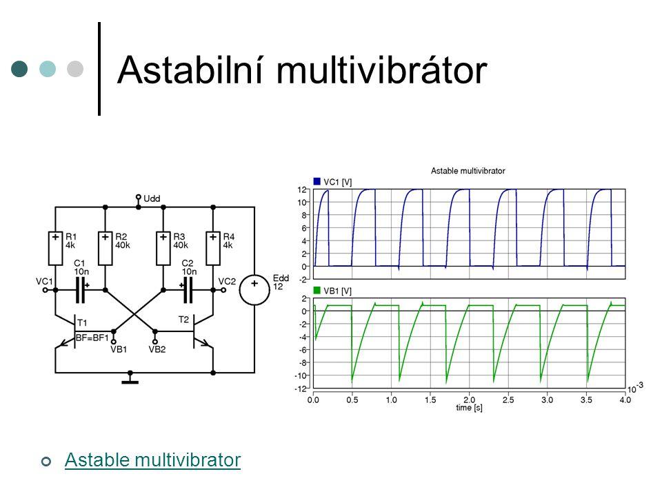 Astabilní multivibrátor Astable multivibrator