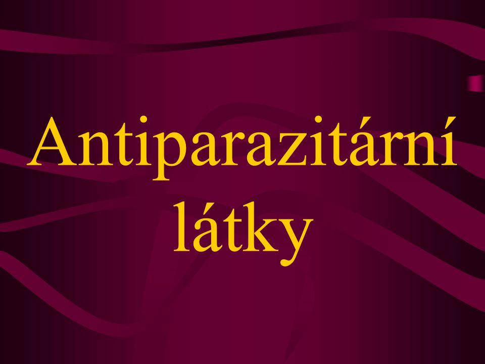 Antiparazitární látky