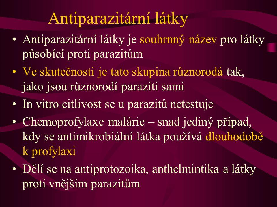 Antiparazitární látky Antiparazitární látky je souhrnný název pro látky působící proti parazitům Ve skutečnosti je tato skupina různorodá tak, jako js