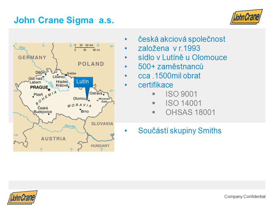 Smiths Group plc Annual Results 2012 | 2 Company Confidential John Crane Sigma a.s.