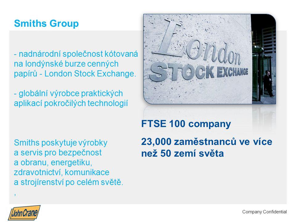 Smiths Group plc Annual Results 2012 | 3 Company Confidential Smiths Group - nadnárodní společnost kótovaná na londýnské burze cenných papírů - London Stock Exchange.