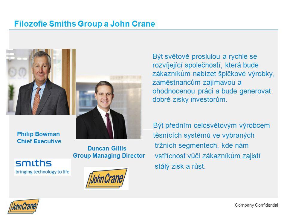 Smiths Group plc Annual Results 2012 | 4 Company Confidential Filozofie Smiths Group a John Crane Být světově proslulou a rychle se rozvíjející společností, která bude zákazníkům nabízet špičkové výrobky, zaměstnancům zajímavou a ohodnocenou práci a bude generovat dobré zisky investorům.