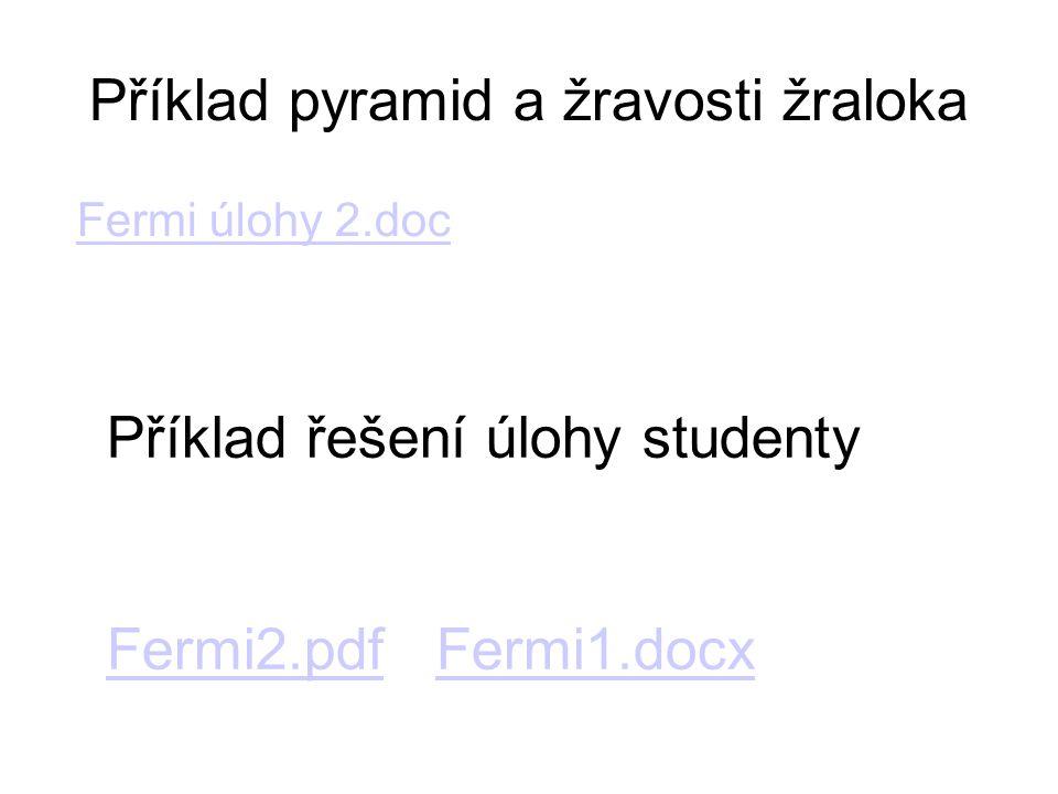 Příklad pyramid a žravosti žraloka Fermi úlohy 2.doc Příklad řešení úlohy studenty Fermi2.pdfFermi2.pdf Fermi1.docxFermi1.docx