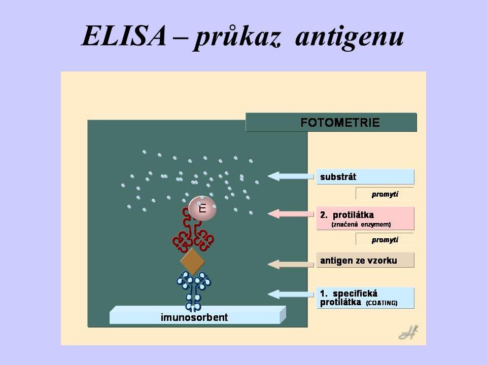 ELISA – průkaz antigenu