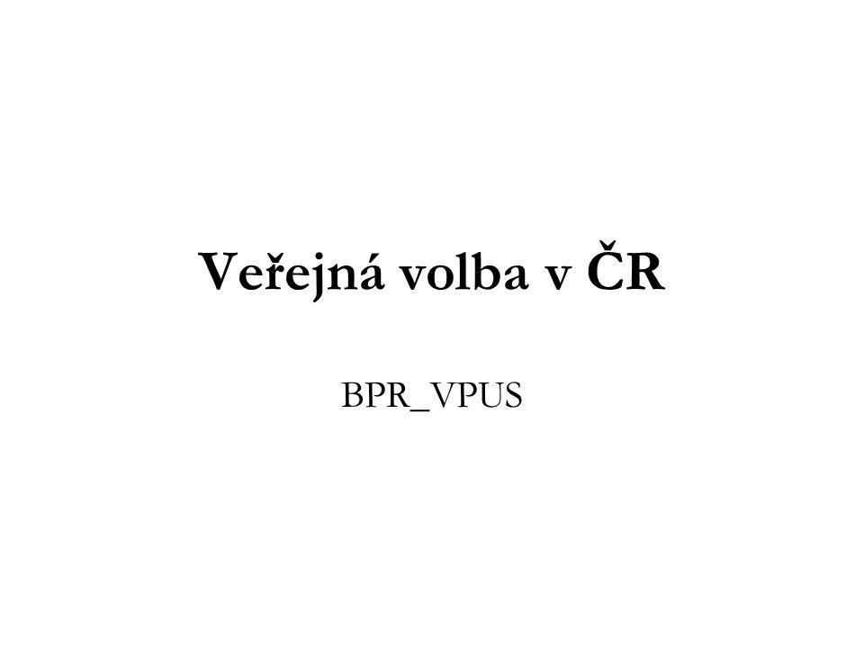 Veřejná volba v ČR BPR_VPUS