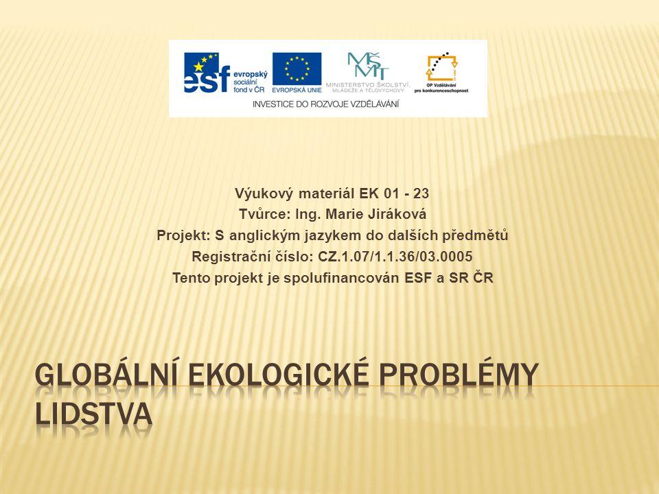 Výukový materiál EK 01 - 23 Tvůrce: Ing.
