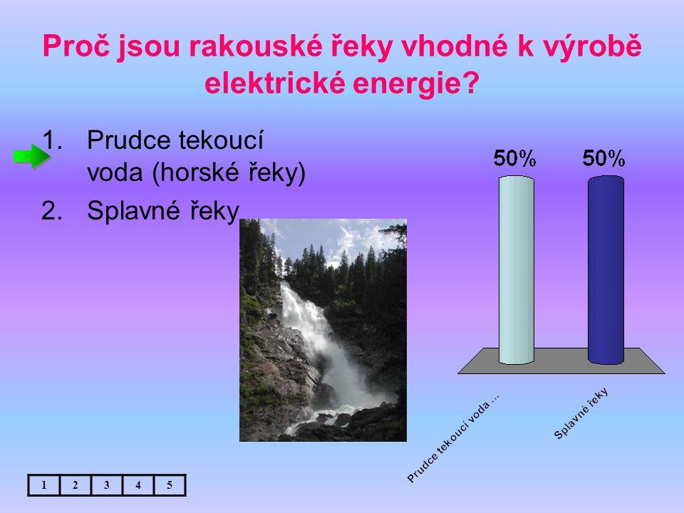 Proč jsou rakouské řeky vhodné k výrobě elektrické energie.