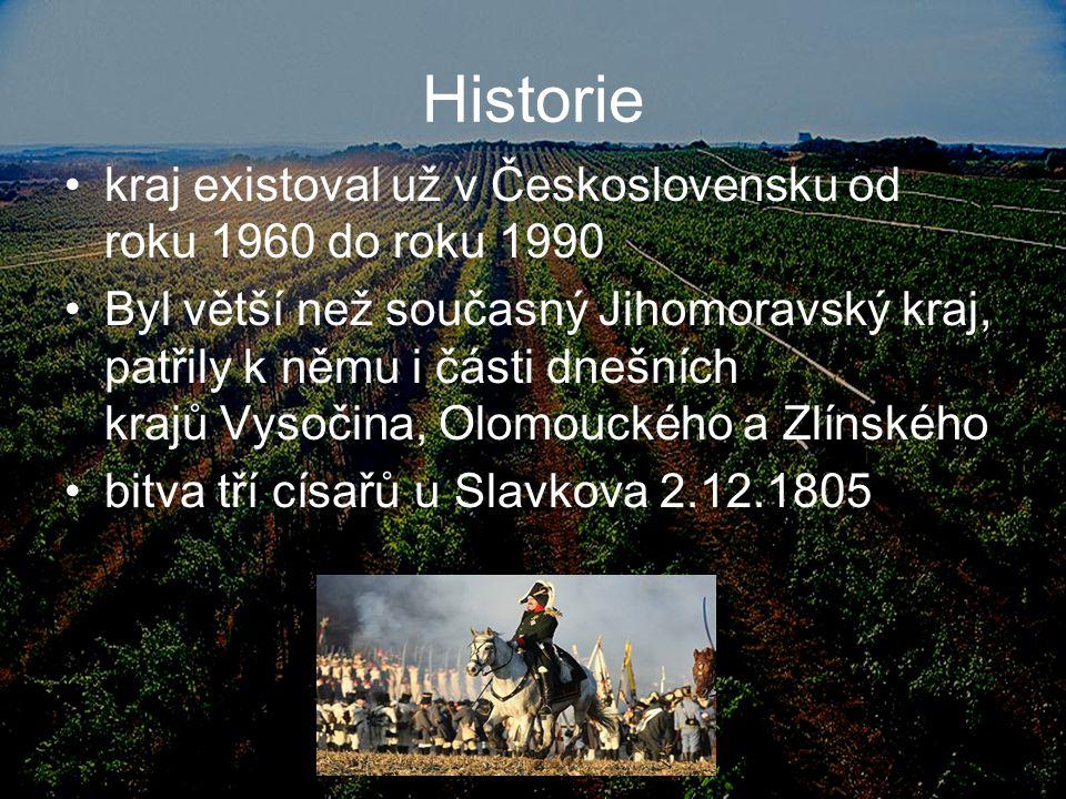 Historie kraj existoval už v Československu od roku 1960 do roku 1990 Byl větší než současný Jihomoravský kraj, patřily k němu i části dnešních krajů