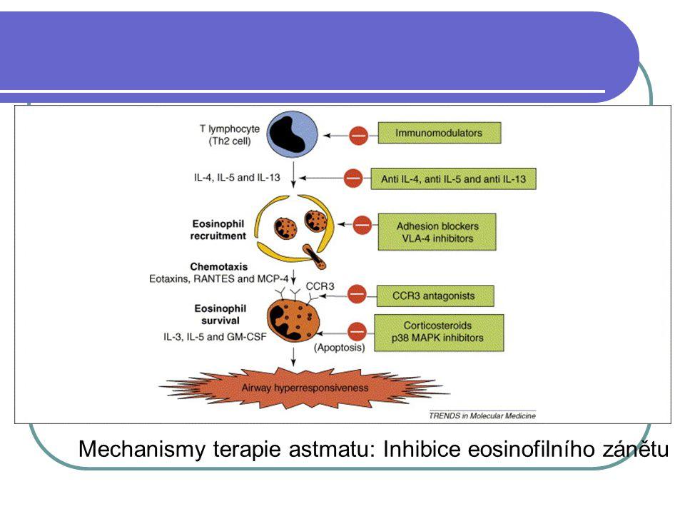 Mechanismy terapie astmatu: Inhibice eosinofilního zánětu