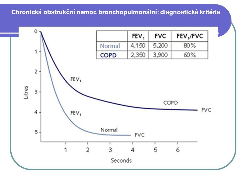 Chronická obstrukční nemoc bronchopulmonální: diagnostická kritéria