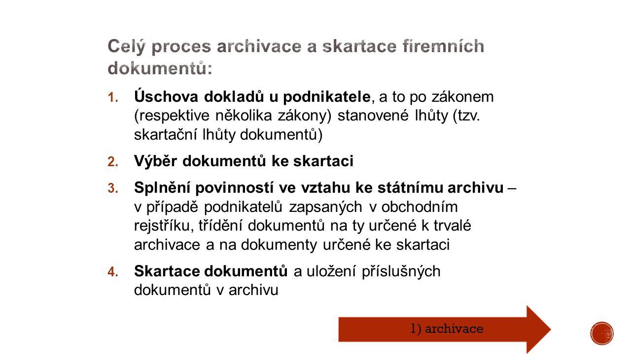 1) archivace