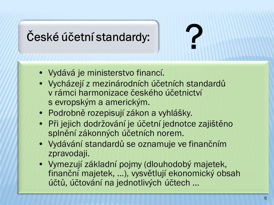 Vydává je ministerstvo financí.