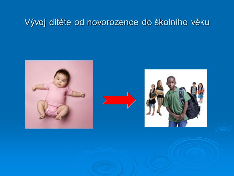 Vývoj dítěte: - Neprobíhá stejnoměrně a pravidelně ve všech vývojových oblastech (probíhá po celý život) - Ovlivňuje ho dědičnost i vliv prostředí - Zděděné vlohy se u dítěte rozvíjejí postupně - Jednotlivé fáze vývoje podléhají vnitřním i vnějším vlivům